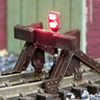 Train Tech N Scale Buffer Lit